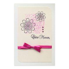 Carte Fête des Mères 'Chère Maman' Fleurs, Collection Lovely Scrap, Lovely Carte