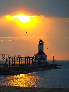 Golden Lighthouse (Michigan City, IN)