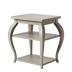 Serena & Lily $295.Vera Side Table Grey 26.5w x17.5d x 23H