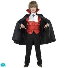 Disfraz de conde vampiro para niño                                                                                                                                                                                 Más