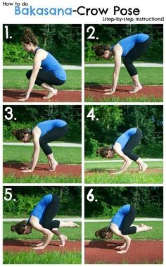 Before I die, I want to do a handstand and hold the crow pose. This is a great step-by-step guide! How to Do Crow Pose-The Almond Eater - yoga Yoga Meditation, Yoga Bewegungen, Hatha Yoga, Yoga Flow, Yoga Inspiration, Inspiration Fitness, Yoga Fitness, Fitness Goals, Yoga Posen