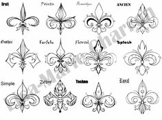 tattoos of fleur de lys - Google Search