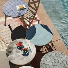 Add A Little Art To Your Outdoor Space With The Mosaic Tiled Bistro Table.  Its Marble Tiles Are Carefully Inlaid By Hand Onto A FSC® Certified  Hardwood Base ...