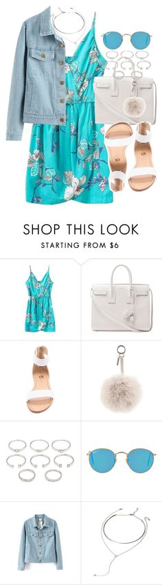 """""""Untitled #3433"""" by hellomissapple on Polyvore featuring Yves Saint Laurent, Yosi Samra, Fendi, Forever 21, Ray-Ban, women's clothing, women's fashion, women, female and woman"""