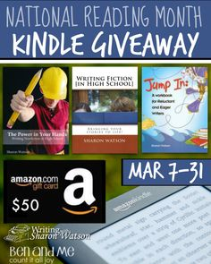 National Reading Month Kindle Giveaway includes a $50 Amazon GC and writing curriculum for your #homeschool (middle and high school)