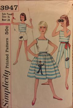 VTG 3947 Simplicity early 1960's skirt top by ThePatternParlor