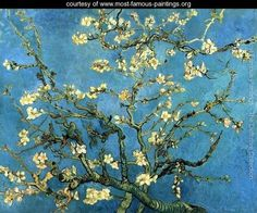 Branches with Almond Blossom - Vincent Van Gogh - www.most-famous-paintings.org