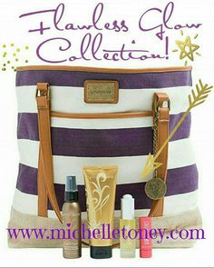 JULY KUDOS! Get this bag FREE when you purchase the Flawless Glow Collection. JULY ONLY!  GET YOURS NOW!