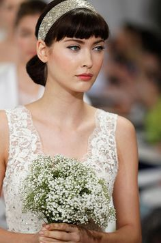 Hair from the Carolina Herrera Spring 2013 bridal runway show.
