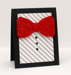 Perfect card for your dapper Dad on Father's day! by Kryssi Ng using #lifestylecrafts #bowtie #diecut