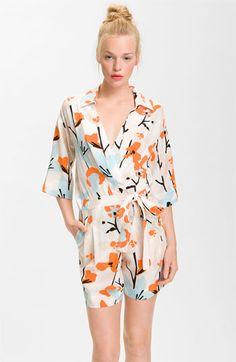 Diane von Furstenberg 'Ebuca' Print Silk Romper - first honeymoon outfit!