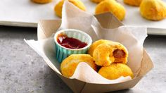 Try these spicy corn dog bites; perfect for sharing!