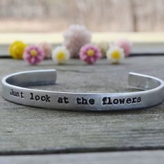 Just Look At The Flowers Bracelet - Walking Dead - Quotes - Zombies - Gifts - Under $20 - $18.00