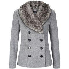 Windsmoor Black Mid Wool Coat ($115) ❤ liked on Polyvore ...