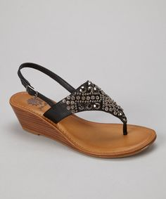 Take a look at this Black Martina Wedge Sandal - Women by Yellow Box Shoes on #zulily today!