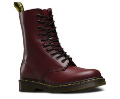 Shop Women's Boots on the official Dr. Martens like the Women'S 1460 Smooth, 1460 Smooth, and null in a variety of leathers, textures and colors. Dr. Martens, Botas Doc Martens, Doc Martens Stiefel, Leather Lace Up Boots, Lace Up Shoes, Laced Boots, Red Leather, Red Booties, Ankle Booties