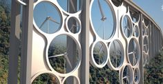 The Solar Wine proposal seeks to create a wind turbine and solar powered scenic bridge with an abandoned viaduct in Calabria, Italy.
