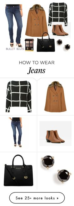 """Bullet Blues Fall Fashion Staple: Blue Skinny Jeans 2"" by bulletblues on Polyvore featuring moda, CHARLES & KEITH, Bullet, Topshop, VALENTINE GAUTHIER, MICHAEL Michael Kors, Kate Spade y Tom Ford"
