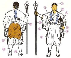 Yamabushi clothing. Click through to the source and find out what everything's called!