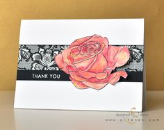 Focus: Sketchy Rose – Altenew, Tasnim, Rose, roses, lace
