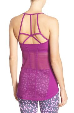 Zella 'Dream Catcher' Mesh Back Tank available at #Nordstrom