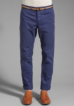 SCOTCH & SODA Belted Chino in Indigo - Chinos (via ShopStyle/Revolve Clothing; $109)