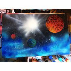#galaxies #art #spraypainting #space #shepardsketches original