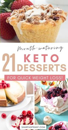 Keep your Ketogenic Diet guilt-free while indulging on your sweet cravings with these 21 Easy Keto Dessert Recipes! Desserts Keto, Quick Easy Desserts, Keto Dessert Easy, Delicious Desserts, Dessert Recipes, Hot Chocolate Ice Cream, Chocolate Roll Cake, Healthy Baking, Healthy Food