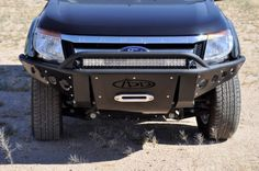2011 - Up Ford Ranger T6 Stealth Front Bumper w/ Winch Mount