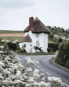 "myfairylily: ""The Round House at Stanton Drew, Somerset, England North Somerset, Somerset England, England Uk, Somerset Village, White Cottage, Cozy Cottage, Wedding Destination, Round House, English Countryside"
