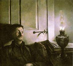 Andrew Wyeth-oil lamp