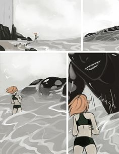 Thermohalia: An unfinished webcomic, but the art is worth looking at.
