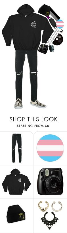 """""""and all the wounds that are ever gonna scar me~"""" by tokyofoool ❤ liked on Polyvore featuring RtA, Anti Social Social Club, Fujifilm, Hot Topic and Vans"""