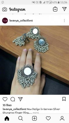 Use Walmart Jewelry Department For Your Shopping List Indian Jewelry Earrings, Silver Jewellery Indian, Jewelry Design Earrings, Hand Jewelry, Silver Jewelry, Gemstone Jewelry, Jewlery, Silver Rings, Tribal Jewelry