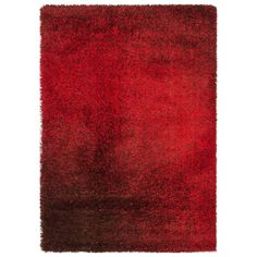 Alexander Home Stella Red/ Brown Shag Rug (7'7 x 10'5) (Cantebury Red/ Brown Shag Rug (7'7 x 10'5)) (Plastic, Abstract)