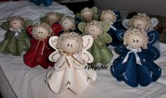 GiogiAle: Angels felt - explanations--if the page doesn't show up in English, use your Browser to translate for you. Angel Crafts, Felt Crafts, Holiday Crafts, Diy And Crafts, Christmas Tag, Christmas Angels, All Things Christmas, Christmas Ornaments, Felt Angel