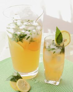 Iced Green Tea with Citrus & Mint