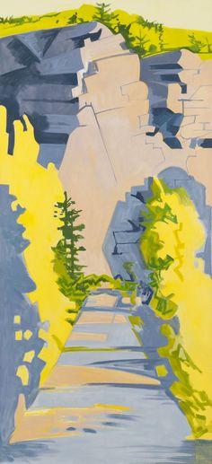 Lois Dodd / road into long cove quarry, 1989