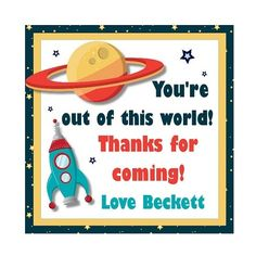 space themed classroom | space themed goody bags repinned from space information space party by ...