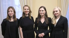 The new Finnish government. From left Li Anderson Katri Kulmuni Sanna Marin and Mari Ohisalo European Union Members, Young Leaders, The Pipeline, World Economic Forum, New Politics, Photos Of The Week, Prime Minister, New York Times, Marines