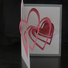 Spiral heart pop up card. No instructions, but self explanatory.
