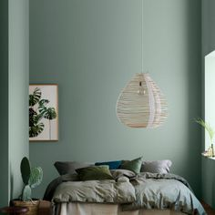 The Birth of Fluttering Tiny Bedroom Ideas For Couples The bedroom is a fantastic place to introduce a color scheme that suits the mood you need to fe. Bedroom Paint Design, Green Bedroom Design, Bedroom Green, Green Rooms, Home Bedroom, Master Bedroom, Bedroom Ideas, Bedroom Decor For Teen Girls, Couple Bedroom