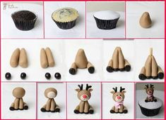 DIY Christmas Reindeer Cupcakes - Find Fun Art Projects to Do at Home and Arts and Crafts Ideas | Find Fun Art Projects to Do at Home and Arts and Crafts Ideas