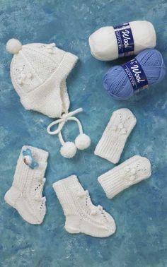 Novita Oy - Neulemalli: Vauvan kypärämyssy, lapaset ja sukat