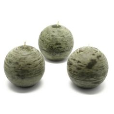 "3"" Scented Green Ball Candles (6pc/Box) by Zest Candle. $17.24. Prices are per box of 6 candles. Size: 3"" Diameter. Burn Time: 40 Hours. 100% Handpoured Pumpkin Spice  Carefully handpoured at lower temperatures to achieve the ""frozen"" effect.  Our ball candles are 100% handpoured giving the longest burn possible. Our 100% lead-free wicks also give the cleanest burn possible.  Ball candles have been around for a while but often unnoticed. Spruce up your room wit..."