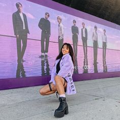 Not sure if Connor was more embarrassed that I was walking around with a BTS shirt or that I forced him to do this little photoshoot in… Kpop Concert Outfit, Concert Fashion, Bts Concert, Kpop Outfits, Cute Outfits, Fashion Outfits, Fashion Ideas, Army Boyfriend, Luanna Perez