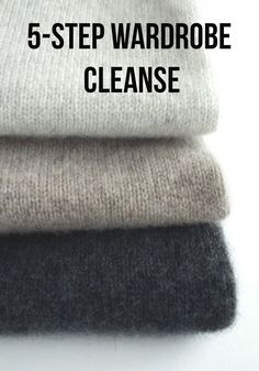 It takes only 5 steps to declutter your closet...these easy secrets are only a click away~
