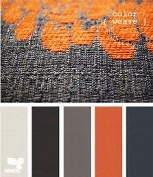 Orange and Grey Color Scheme