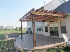 These free pergola plans will help you build that much needed structure in your backyard to give you shade, cover your hot tub, or simply define an outdoor space into something special. Building a pergola can be a simple to… Continue Reading → Wooden Pergola, Outdoor Pergola, Backyard Pergola, Pergola Plans, Pergola Ideas, Cheap Pergola, Pergola Lighting, Patio Plans, Stone Patio Designs