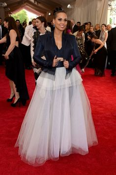Met Gala Looks 2015 - Alicia Keys in Jean Paul Gaultier. Photo: Larry Busacca/Getty Images